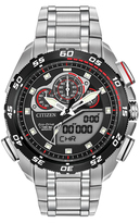 Citizen Red & Silvertone Promaster Super Sport Bracelet Watch - Men