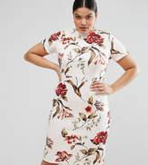Asos Floral Print T-Shirt Bodycon Dress