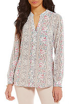 KUT from the Kloth Jasmine Floral Print Button Front Shirt