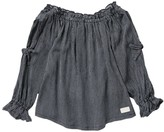 7 For All Mankind Off The Shoulder Open Sleeve Top (Little Girls)