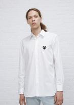 Comme des Garcons White Black Heart Shirt