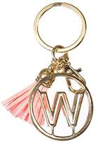 Crown Alphabet Initial Letter Keychain