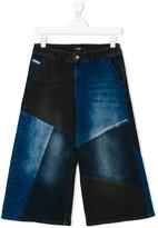Diesel Teen patchwork wide leg jeans