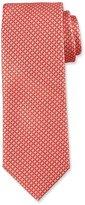 BOSS Wave-Pattern Silk Tie, Orange