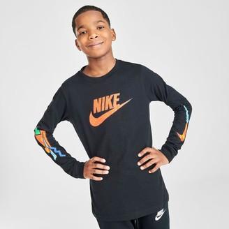 Nike Boys' Futura Throwback Long-Sleeve T-Shirt