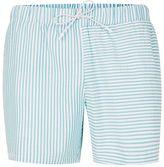 Topman Green Stripe Spliced Swim Shorts