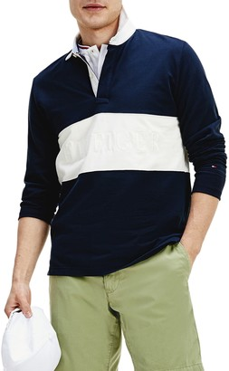 Tommy Hilfiger Colorblock Regular Fit Long Sleeve Rugby Polo