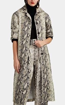 Philosophy di Lorenzo Serafini Women's Python-Print Belted Trench Coat