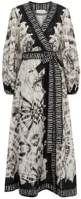Zimmermann Lulu tie-dye linen wrap dress