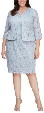 Alex Evenings Plus Size Lace Dress and Jacket