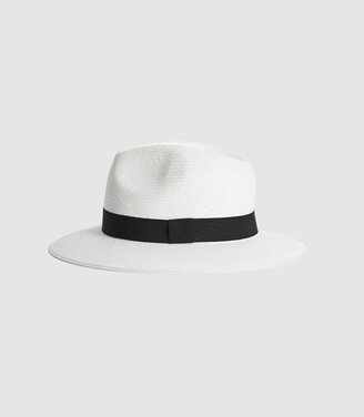 Reiss Ivy - Woven Hat in White