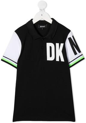 DKNY Colour Block Polo Shirt
