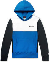 Todd Snyder + Champion Todd Snyder + Champion - Logo-Embroidered Colour-Block Loopback Cotton-Jersey Hoodie
