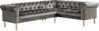 Chic Home Giovanni Taupe Velvet Right Sectional