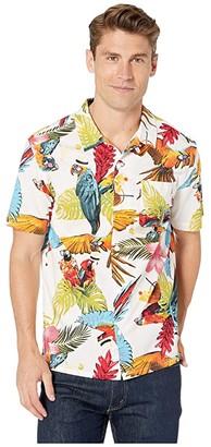 Levi's Alfred Poplin Short Sleeve Woven Shirt (Bright White) Men's Clothing
