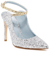Chiara Ferragni Two-Tone Glitter Wrap Ankle Pump