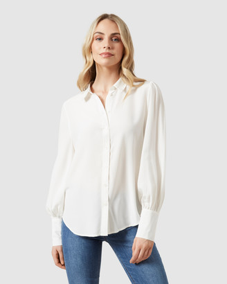 French Connection Puff Sleeve Shirt