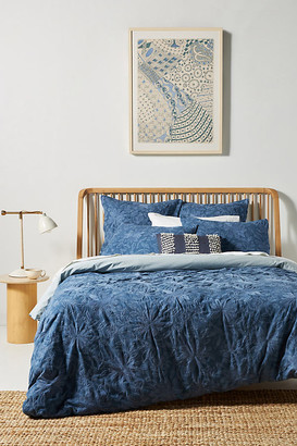 Anthropologie Woven Batia Duvet Cover By in Blue Size Q top/bed