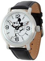 Disney Men's Mickey Mouse Shinny Vintage Articulating Watch with Alloy Case - Black