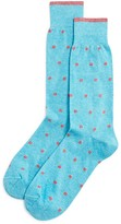 The Men's Store at Bloomingdale's Genova Dot Cotton Blend Dress Socks - 100% Exclusive