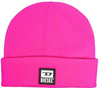 Diesel Logo Patch Beanie Hat