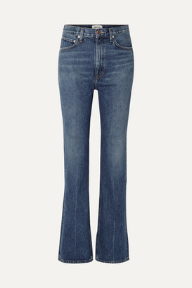 A Gold E Agolde AGOLDE - Organic High-rise Flared Jeans - Blue