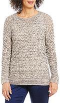 Sigrid Olsen Signature Crew Neck Long Sleeve Marled Sweater