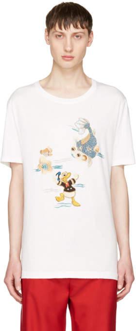 Gucci White Donald Duck T-Shirt
