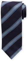 Brioni Twill Wide-Stripe Silk Tie