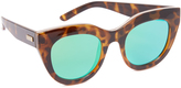 Le Specs Air Heart Mirrored Sunglasses