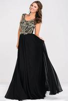 Jovani Cap Sleeve Chiffon Empire Waist Dress JVN47895