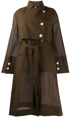 Eudon Choi Lois sheer trench dress
