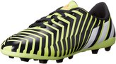 adidas Predito FXG J Soccer Cleat (Little Kid/Big Kid), Yellow/White/Dark Grey, 4 M US Big Kid