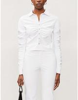 Selfridges Maisie Willen Ruched-sleeve woven shirt
