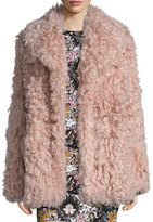 A.L.C. Stone Shearling Jacket, Dusty Pink