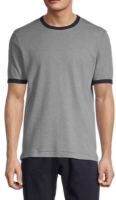 French Connection Textured Cotton Tee