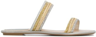 Rene Caovilla Sequin Open-Toe Sandals