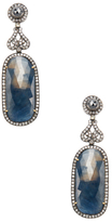 Artisan Silver, 18K Yellow Gold, Sapphire & 2.50 Total Ct. Diamond Drop Earrings