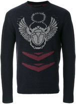 Frankie Morello embroidered fitted sweater