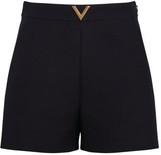 Valentino Vgold Crepe Shorts