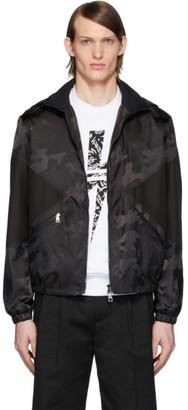 Neil Barrett Black Camo Modernist Jacket