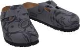 Birkenstock Woodby Birko-Flor Narrow Fit Sandals Ironman Line Art Grey