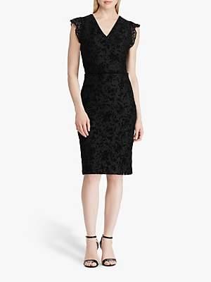Ralph Lauren Ralph Alejandra Cap Sleeve Lace Dress, Black