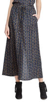 Lauren Ralph Lauren Petite Crepe de Chine Cargo Maxi Skirt