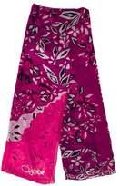 Diane von Furstenberg Floral Chiffon Scarf w/ Tags
