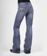 Stetson Blue Light Wash Heavy Studded-Pocket Bootcut Jeans - Juniors