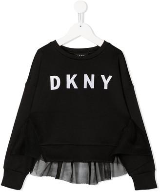 DKNY Mesh-Panel Logo Sweatshirt