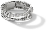 Thumbnail for your product : David Yurman Crossover Ring with Diamonds