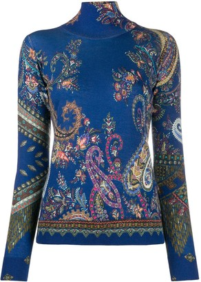 Etro Paisley Roll-Neck Jumper