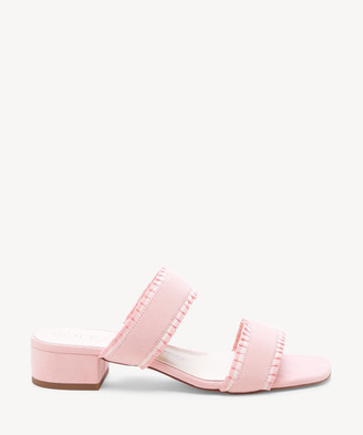 Sole Society Women's Elura Ruffle Slides Sandals Coral Size 5 Leather From